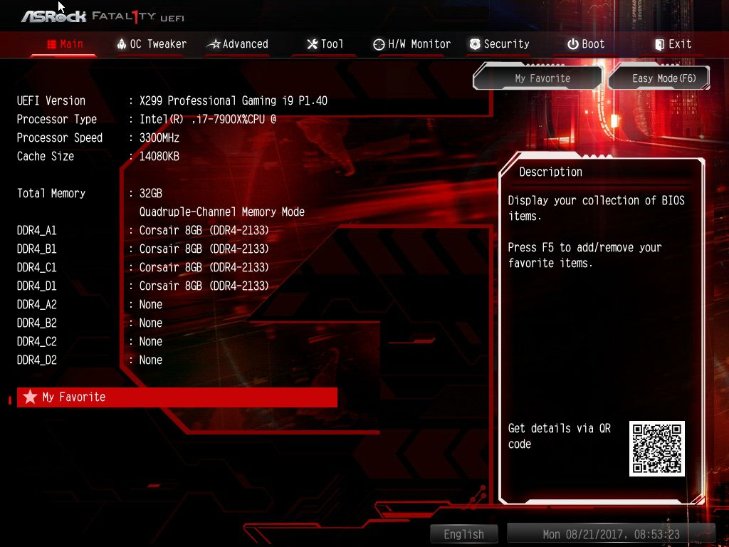 BIOS and Software - The ASRock Fatal1ty X299 Professional Gaming i9