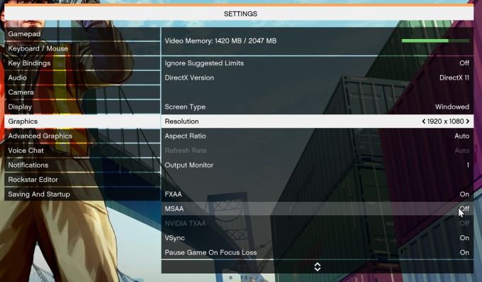 CPU Gaming Performance: Grand Theft Auto - The AnandTech Coffee Lake