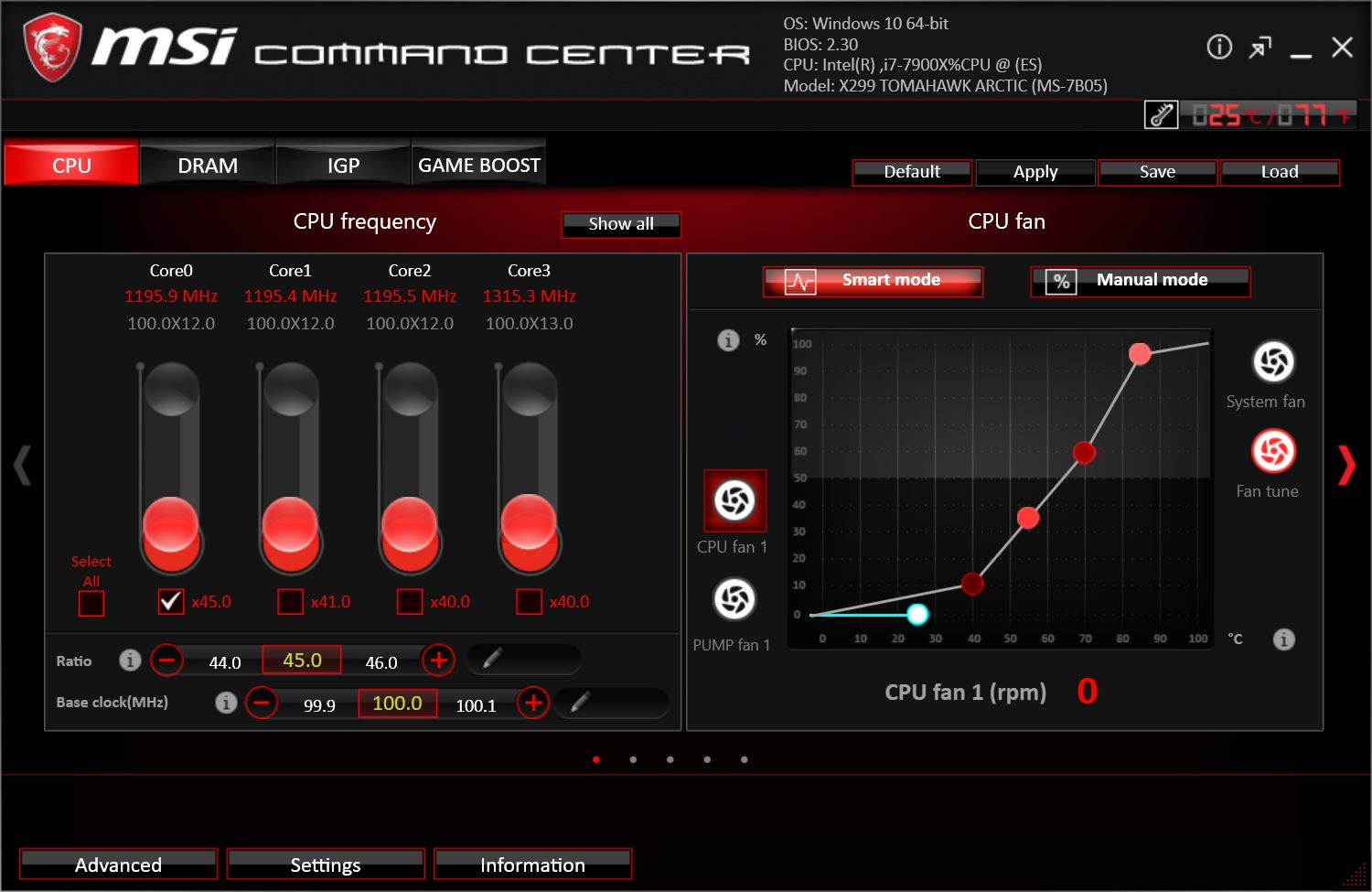 BIOS and Software - The MSI X299 Tomahawk Arctic Motherboard Review