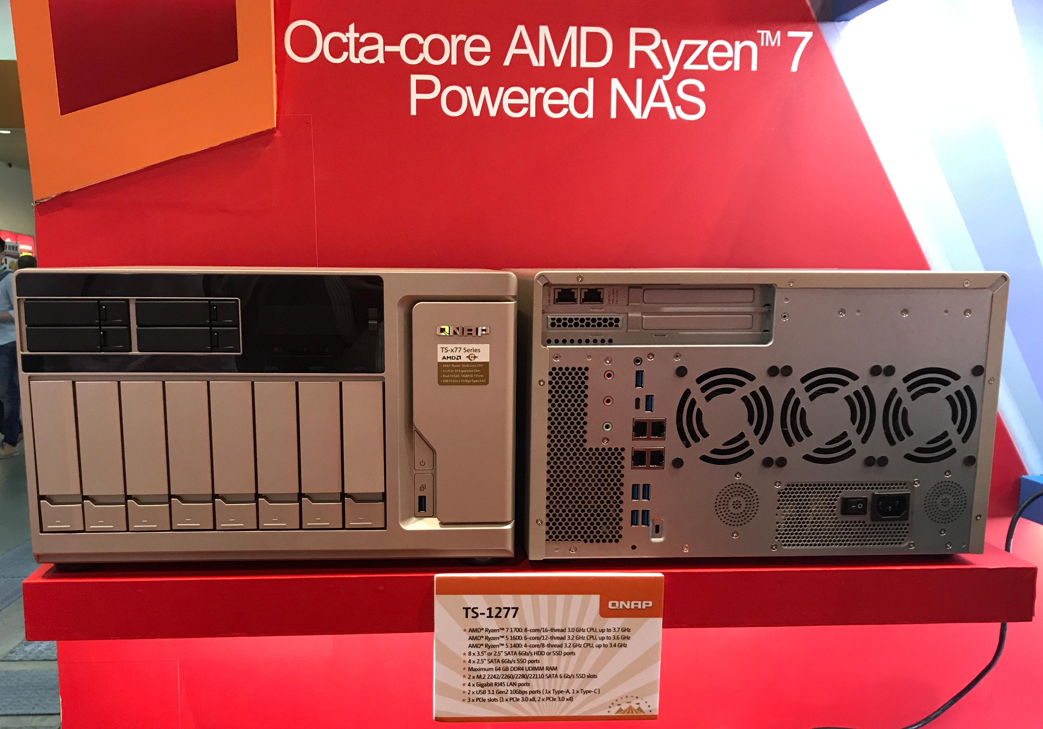 QNAP Begins to Ship AMD Ryzen-Based TS-x77 Series NAS: 6, 8