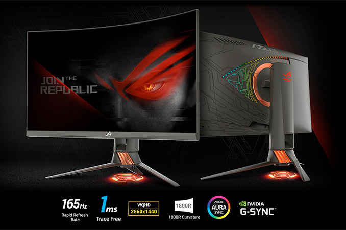 ASUS Launches ROG Swift PG27VQ: Curved 27-inch LCD with 165