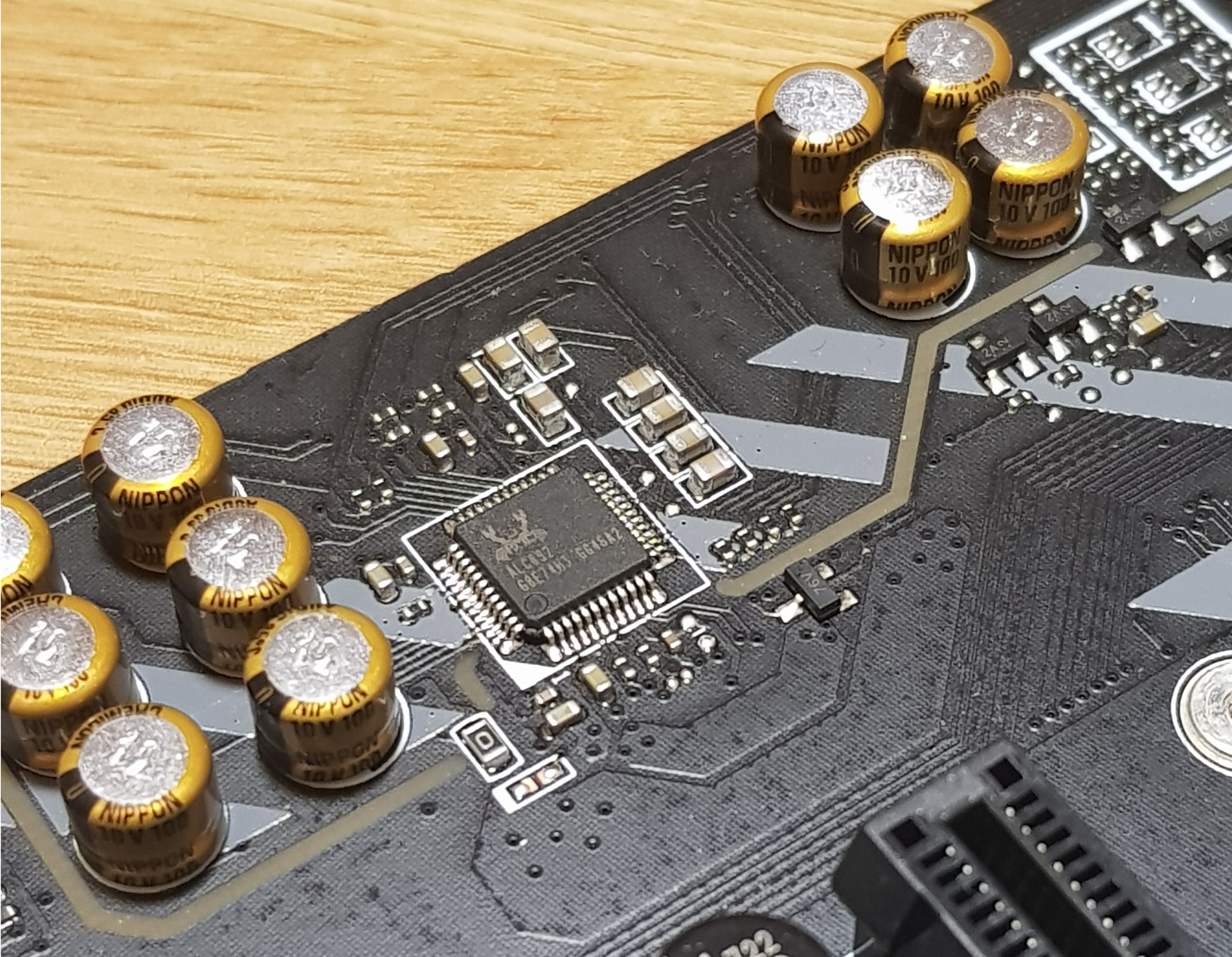 Board Features And Visual Inspection The Msi B350 Tomahawk Circuit There Are A Set Of Nippon Chemi Con Gold Audio Capacitors To Support On