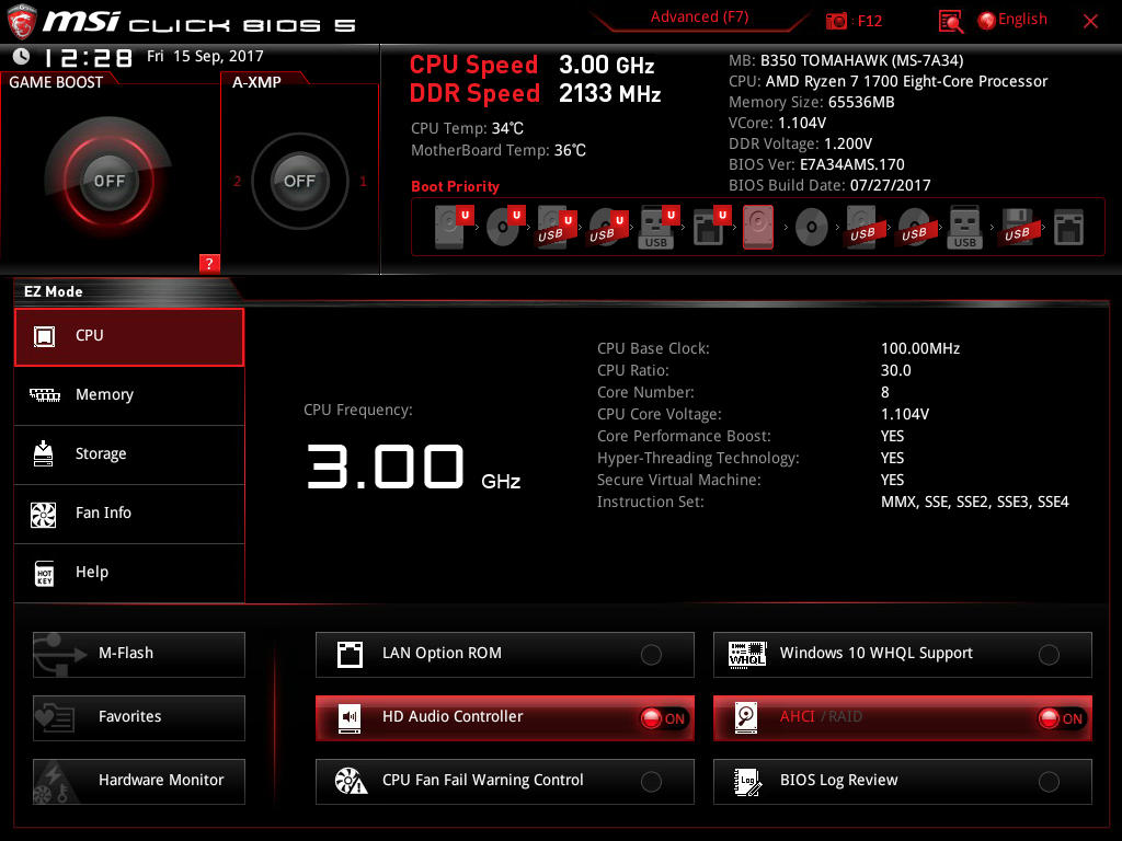 BIOS And Software - The MSI B350 Tomahawk Motherboard Review