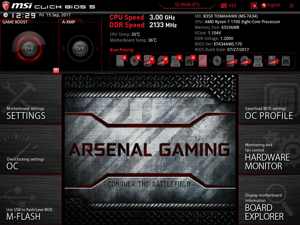 BIOS And Software - The MSI B350 Tomahawk Motherboard Review: Gaming