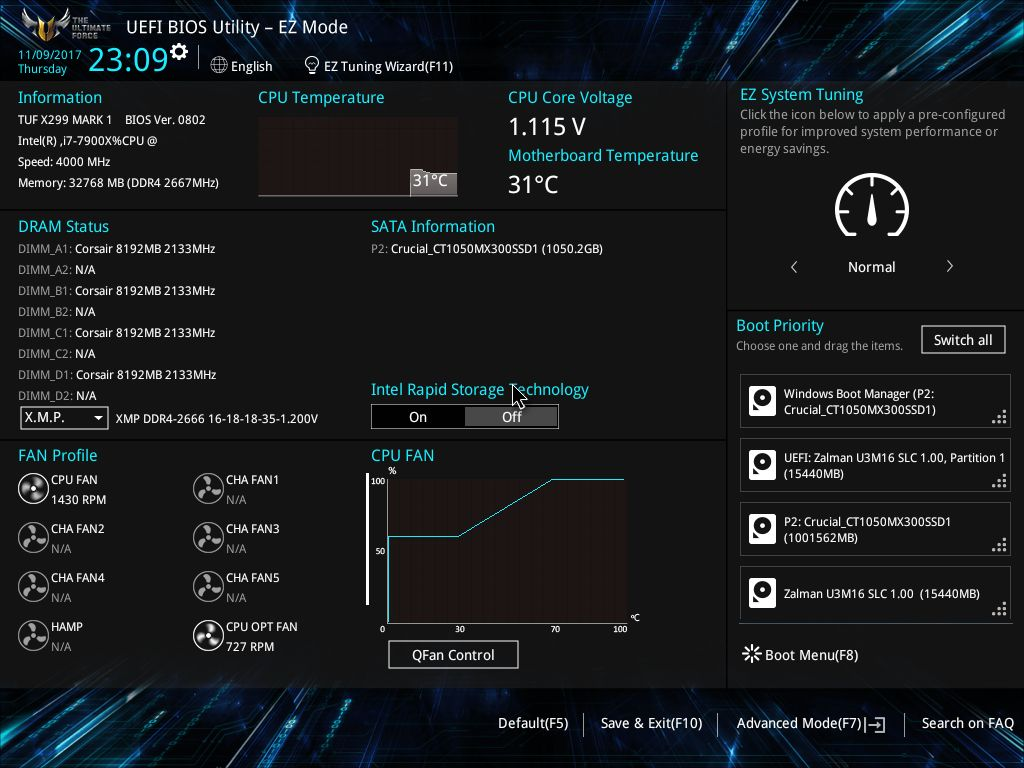 BIOS and Software - The ASUS TUF X299 Mark I Motherboard Review: TUF