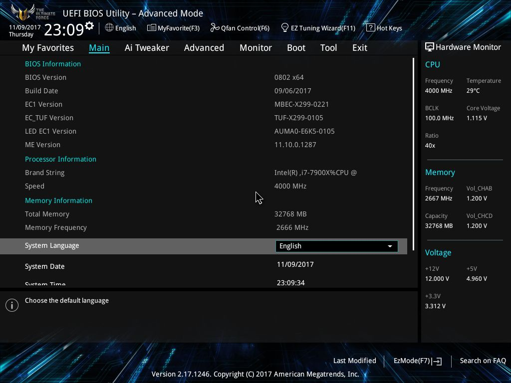 BIOS and Software - The ASUS TUF X299 Mark I Motherboard