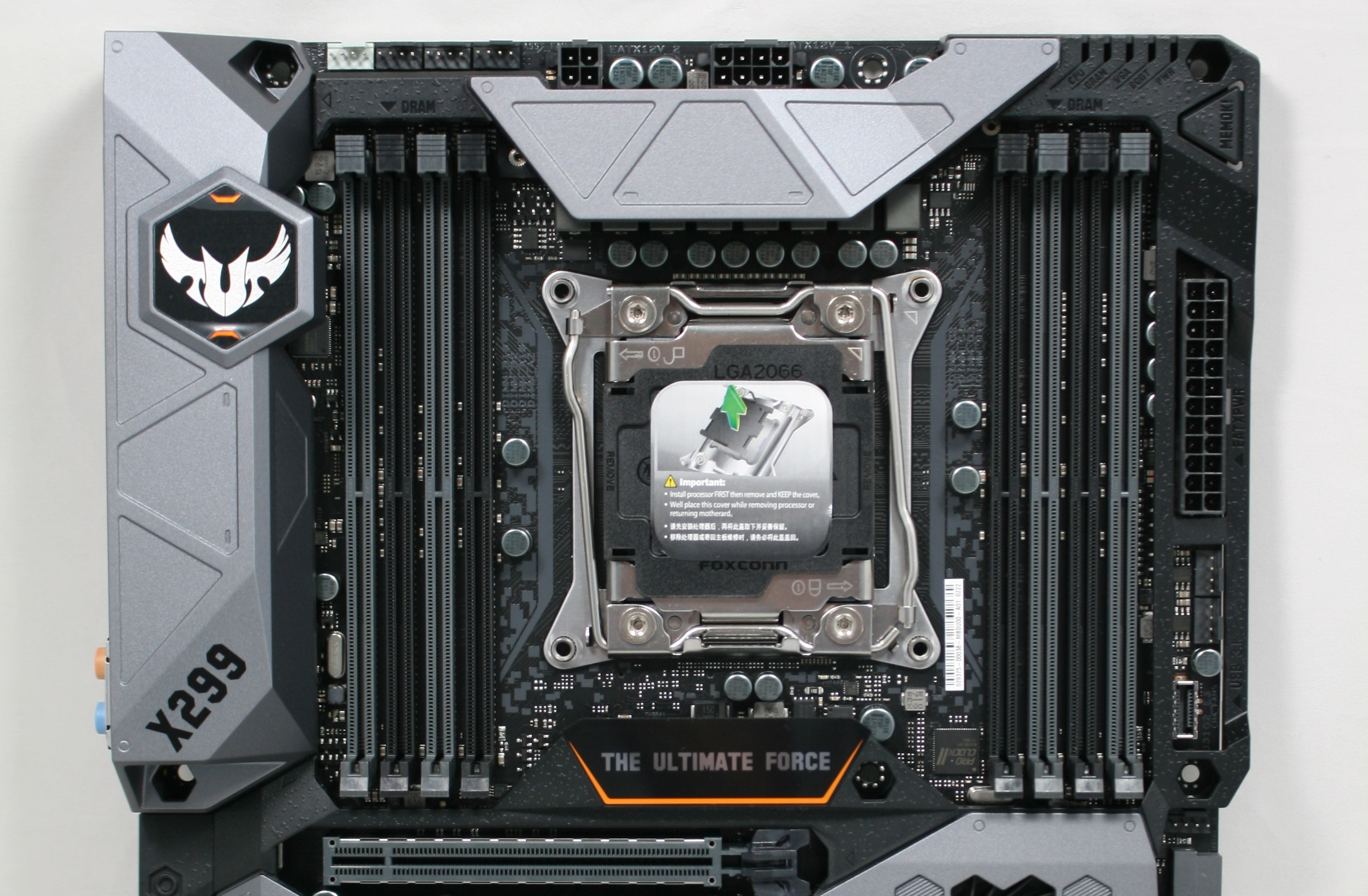 Visual Inspection - The ASUS TUF X299 Mark I Motherboard