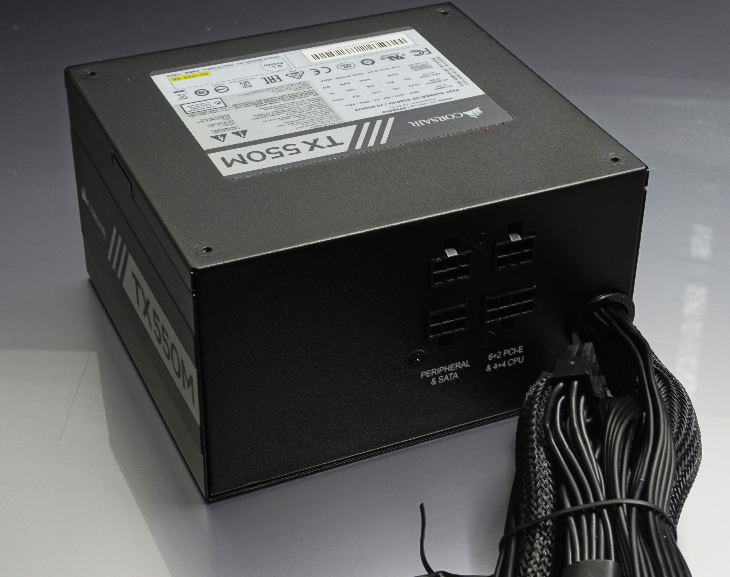 The Corsair Tx550m Psu The 80 Power Supply For Almost