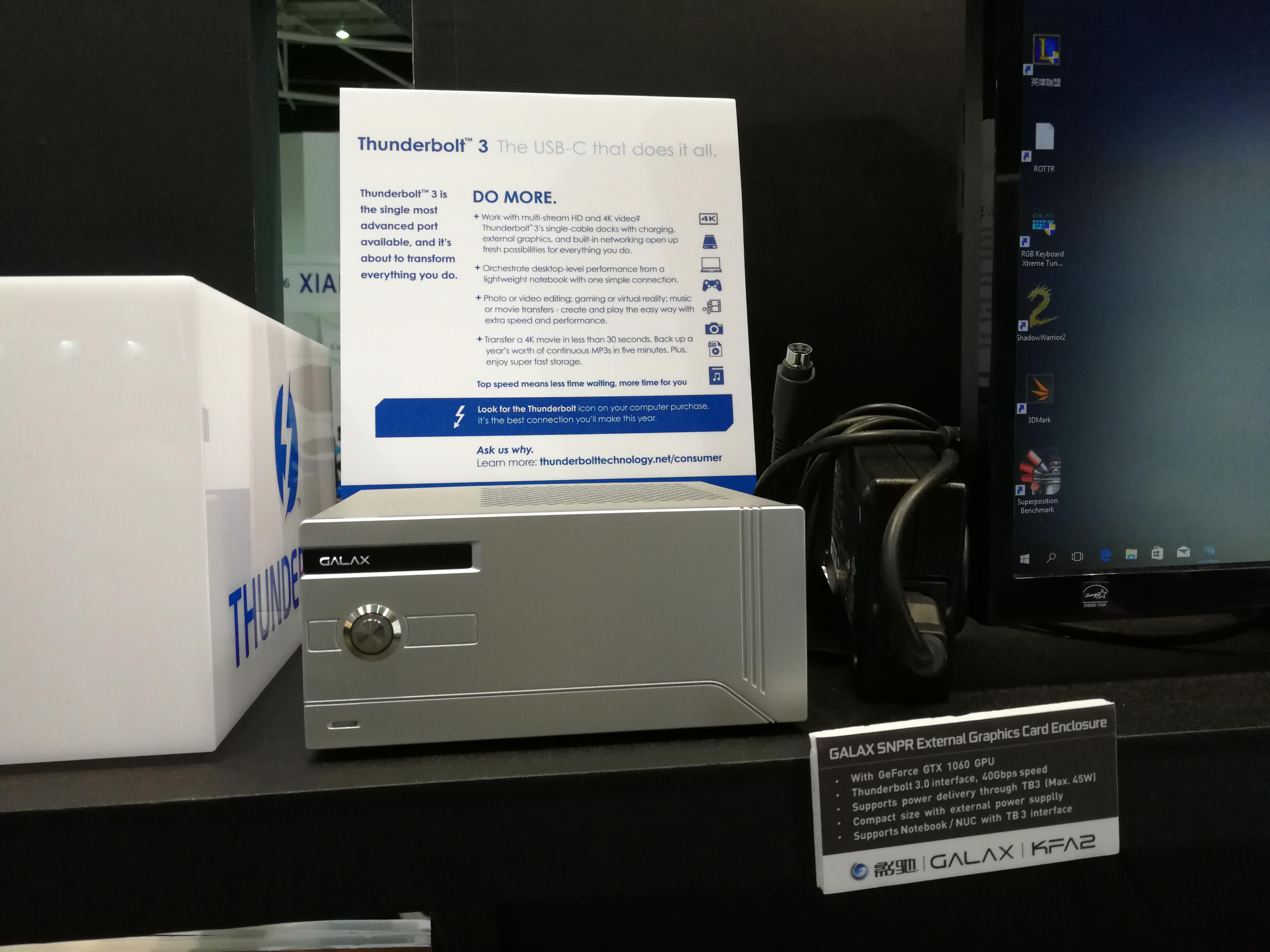 GALAX, KFA2 Launch SNPR External GPU Enclosure with GTX 1060 6 GB