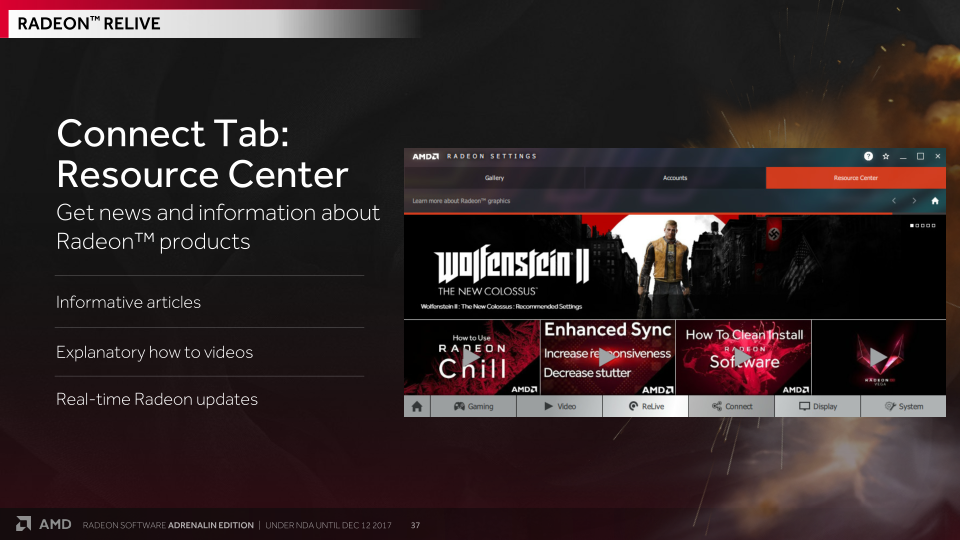 For Sharing Your Streams: Radeon Settings 'Connect Tab' - AMD