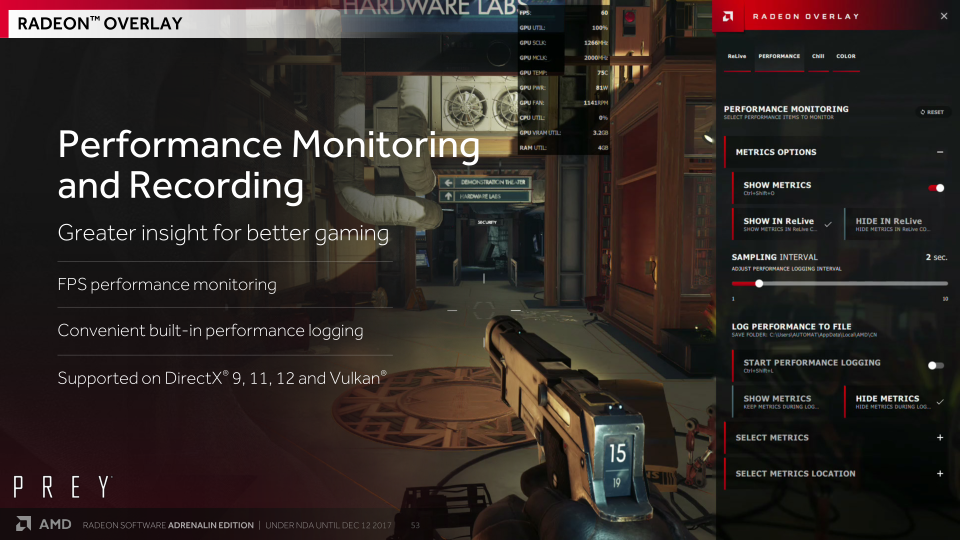 Meet Radeon Overlay - AMD Releases Radeon Software Adrenalin Edition