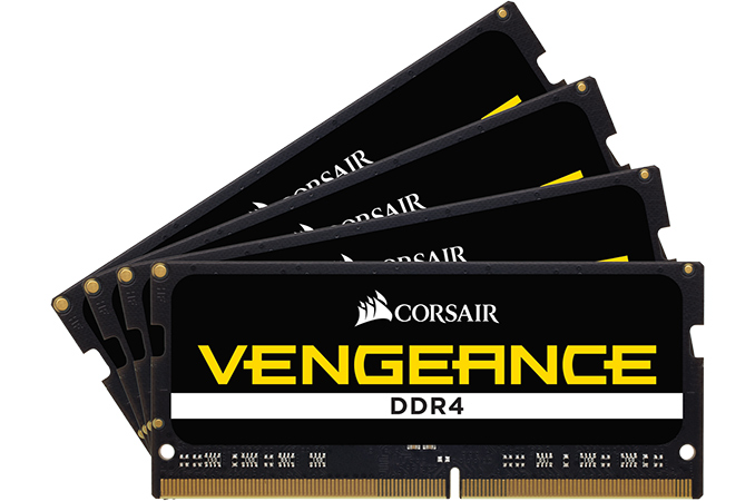 Corsair Launches Vengeance 32 GB Quad-Channel DDR4-4000 SO-DIMM Kit for $595
