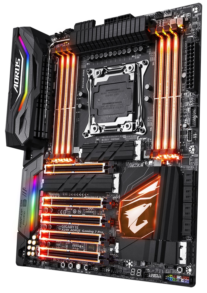 It S An Rgb Disco The Gigabyte X299 Gaming 7 Pro Motherboard Reviewed