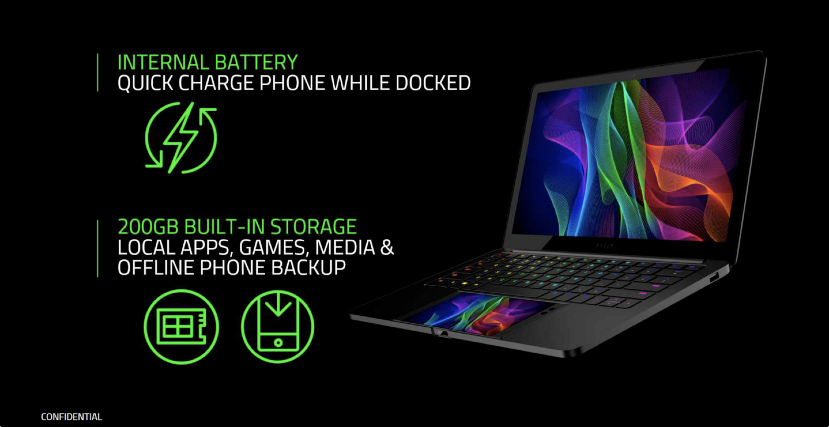 Razer's Project Linda concept docks its Android phone in the laptop