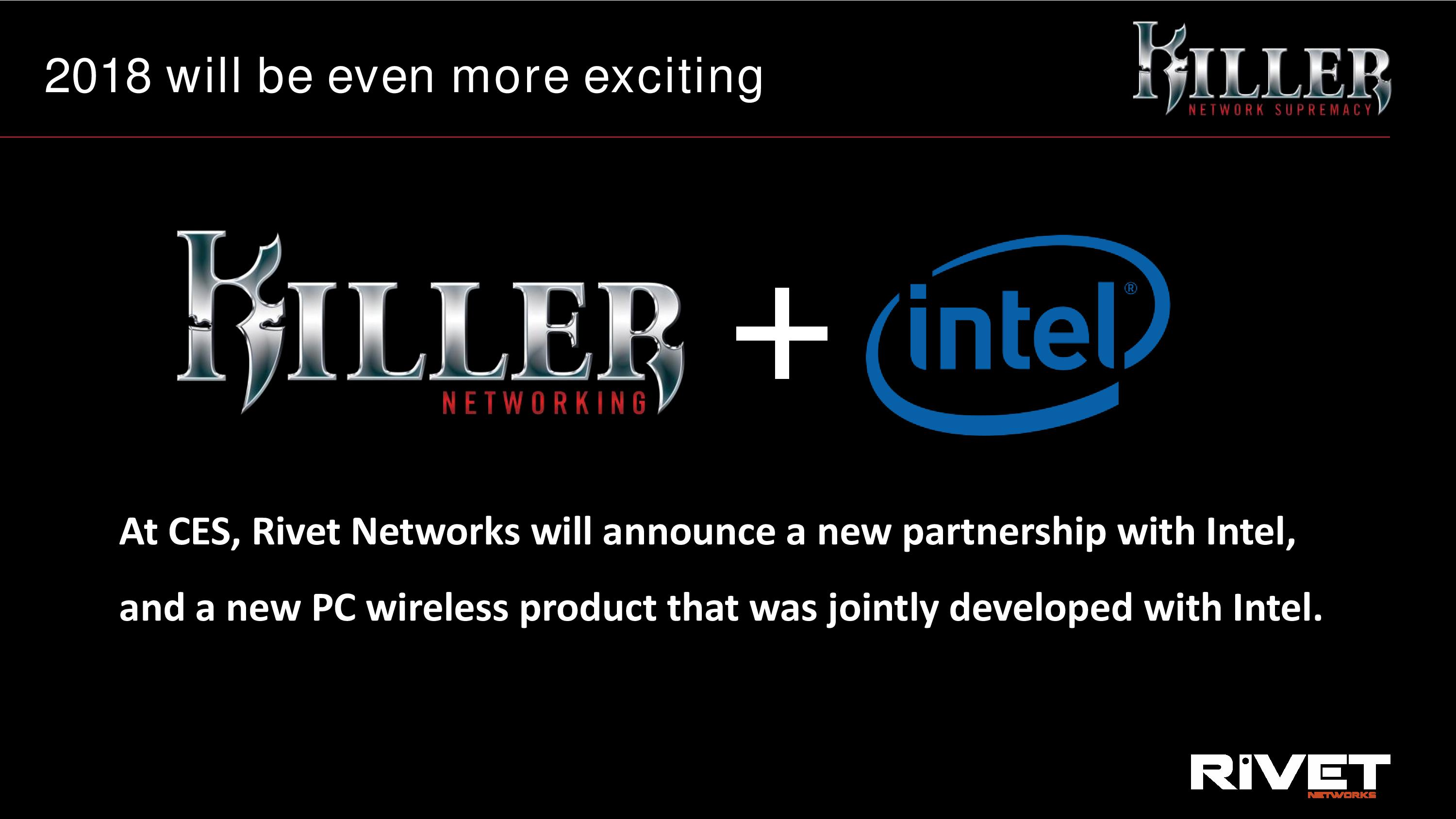 It's Actually an Intel Chip: Rivet Networks Launches the Killer