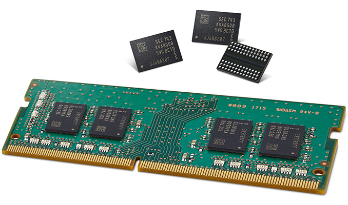 Samsung Electronics Mass-produces Second-gen 1y-nm 8Gb DDR4 DRAM