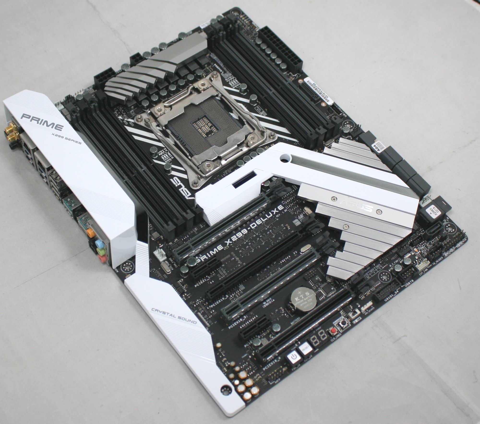 Visual Inspection The Asus Prime X299 Deluxe Motherboard Review Power Connectors Of Front Panel Connector For Your Reference There Are A Total Seven Fan Headers On Board With Support Two High Water Cooling Pumps First Cpu Located At