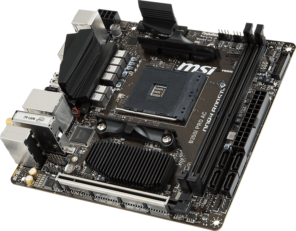 MSI Releases The Mini-ITX B350I PRO AC AM4 Motherboard