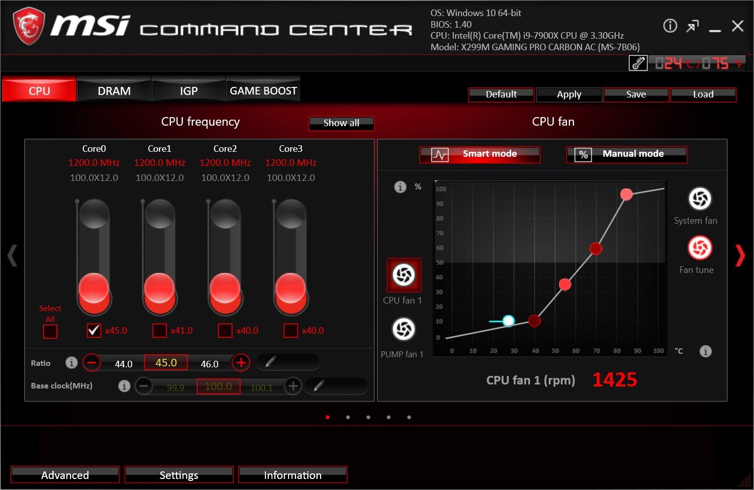 BIOS and Software - The MSI X299M Gaming Pro Carbon AC