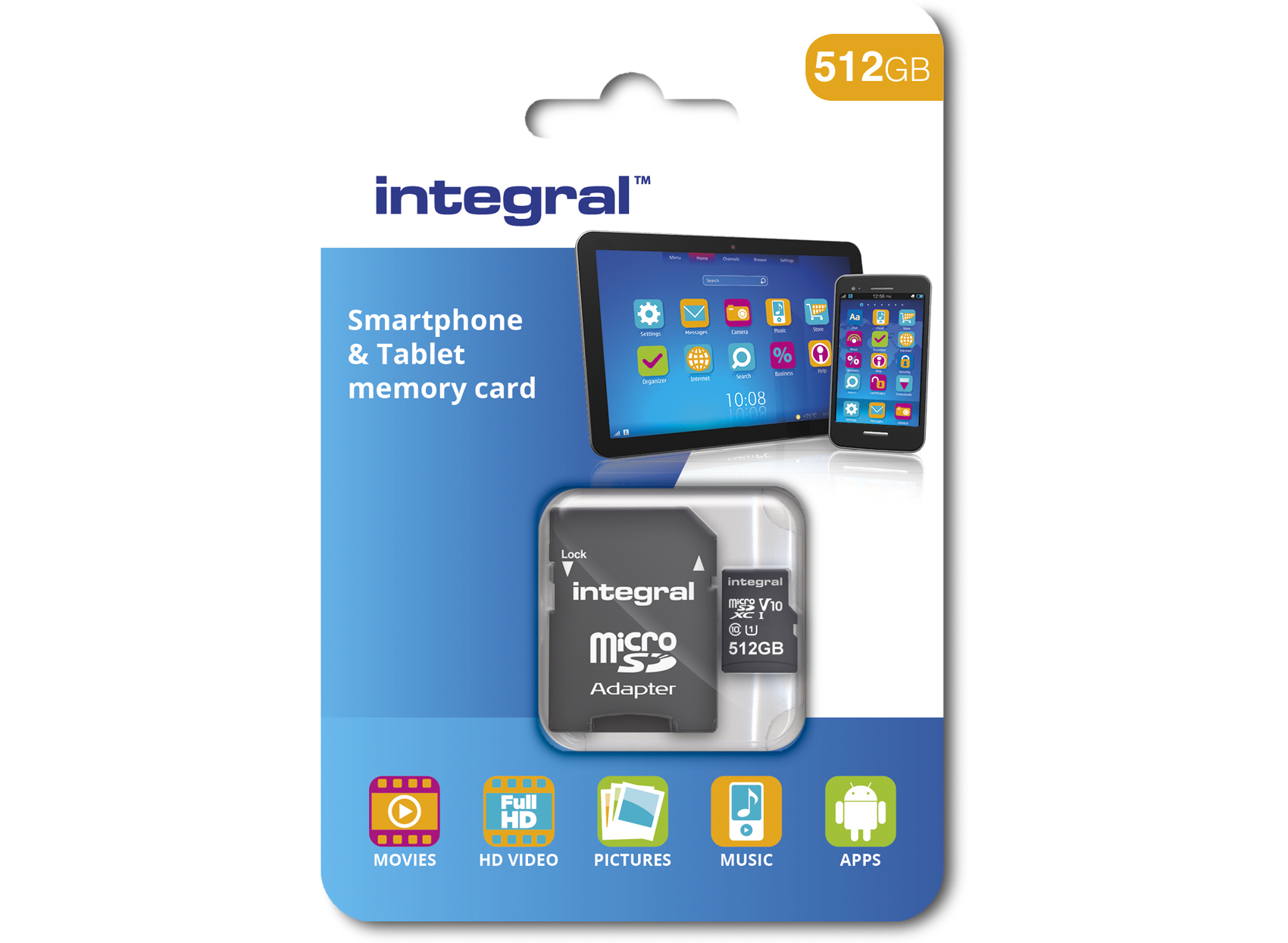 Integral Launches 512 Gb Microsdxc Card Uhc I U1 Class 10
