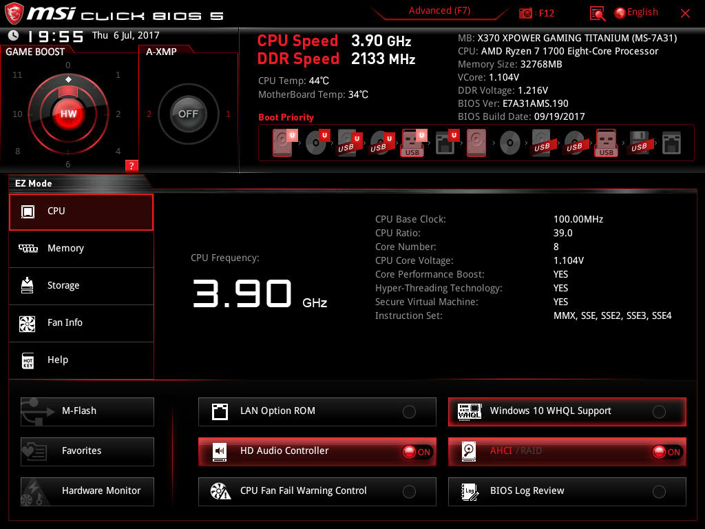 BIOS And Software - The MSI X370 XPower Gaming Titanium Motherboard