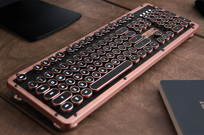 Azio Ships Retro Classic Bluetooth Keyboard: Expensive ...