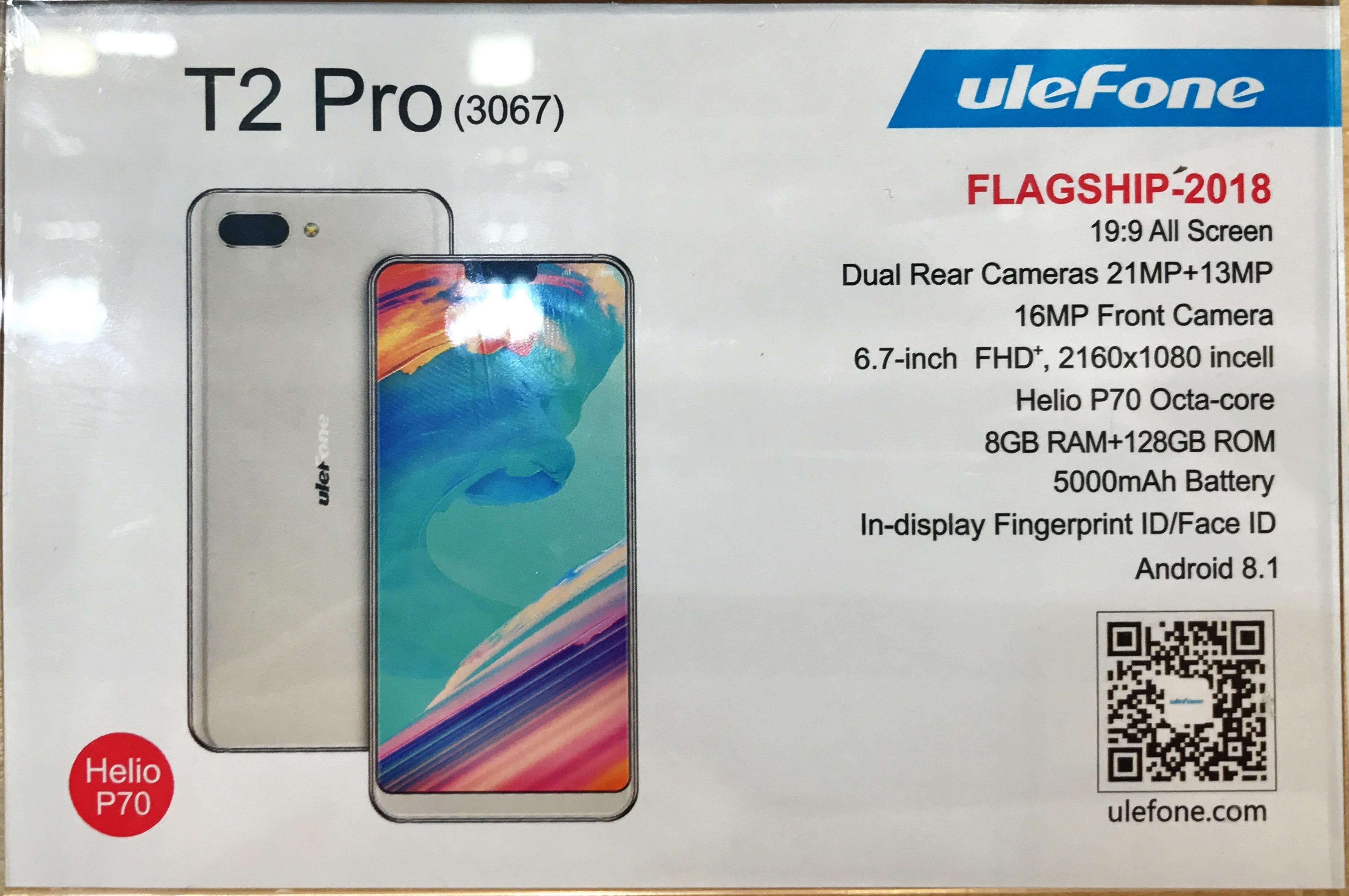 ulefone t2 pro vs iphone x