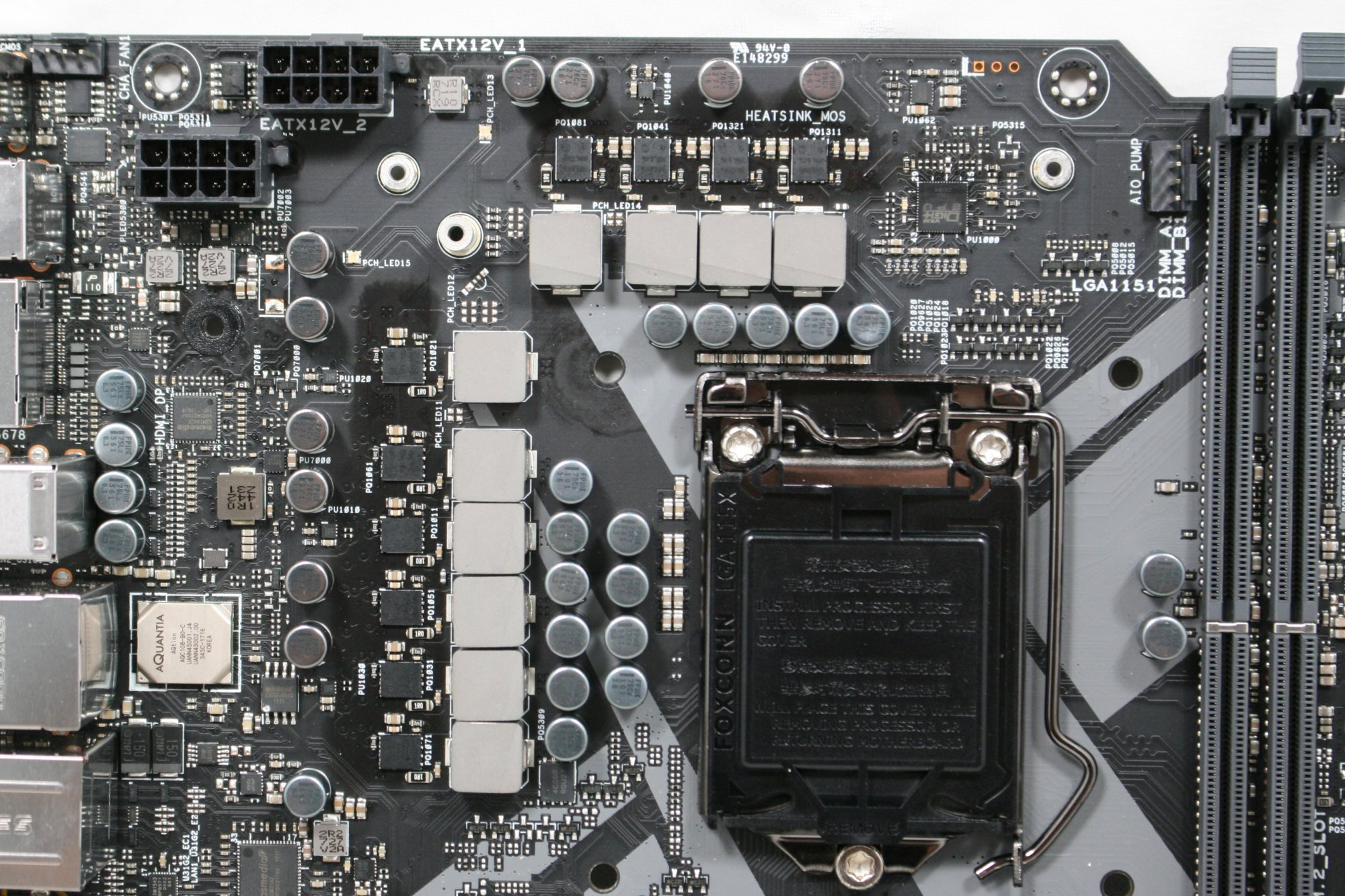 Visual Inspection The Asus Rog Maximus X Apex Review Marks For Mech Students Electronic Choke Circuit Simple Electronics Power Delivery Area In Is An 8 2 Mode Using Asuss 10k Capacitors As Well Microfine Alloy Chokes Driving These Are Asp14501
