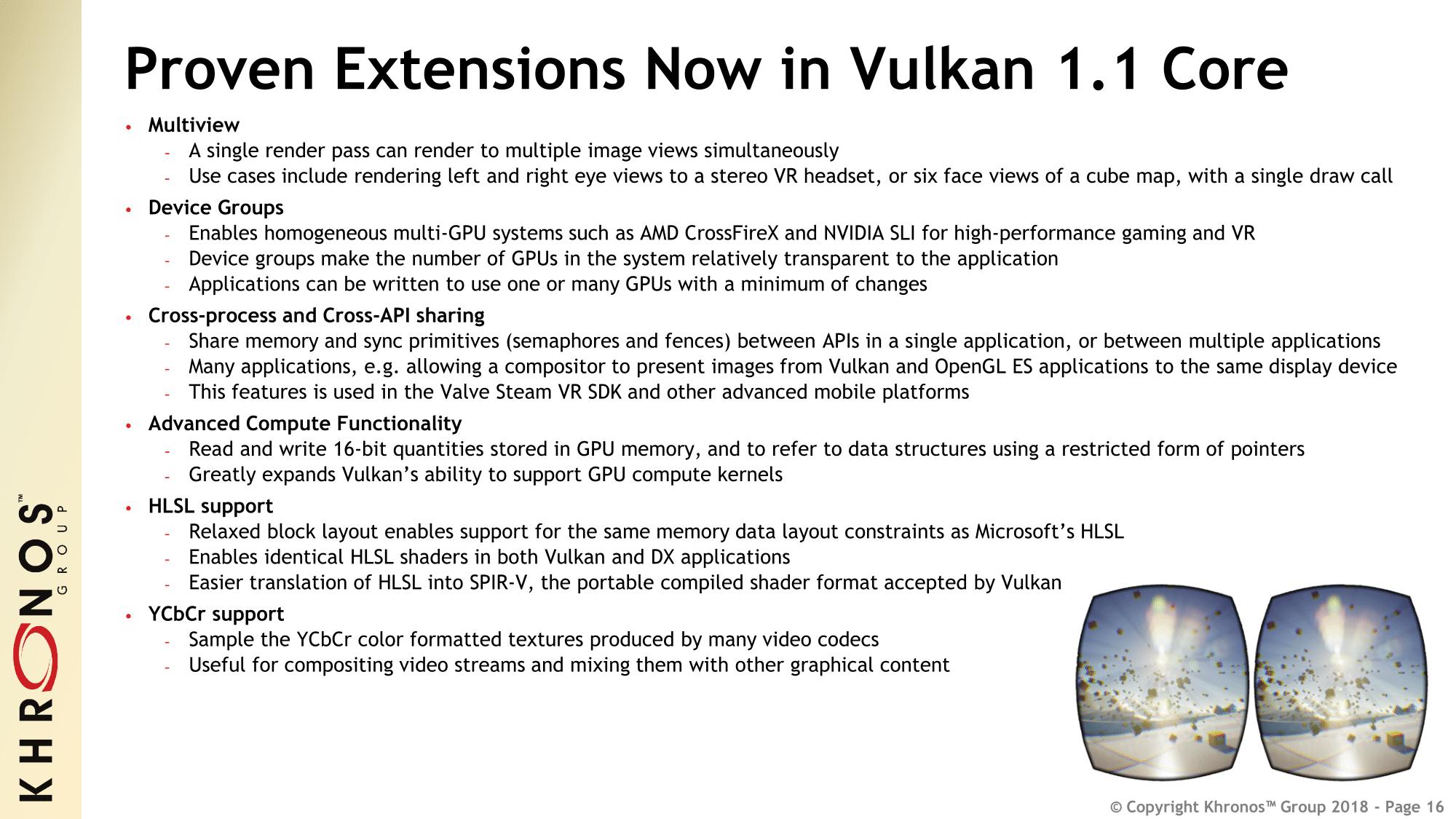 Vulkan 1 1 Specification Released: Open-source Tools, SDKs