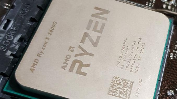 AMD Ryzen 5 2400G and Ryzen 3 2200G Core Frequency Scaling