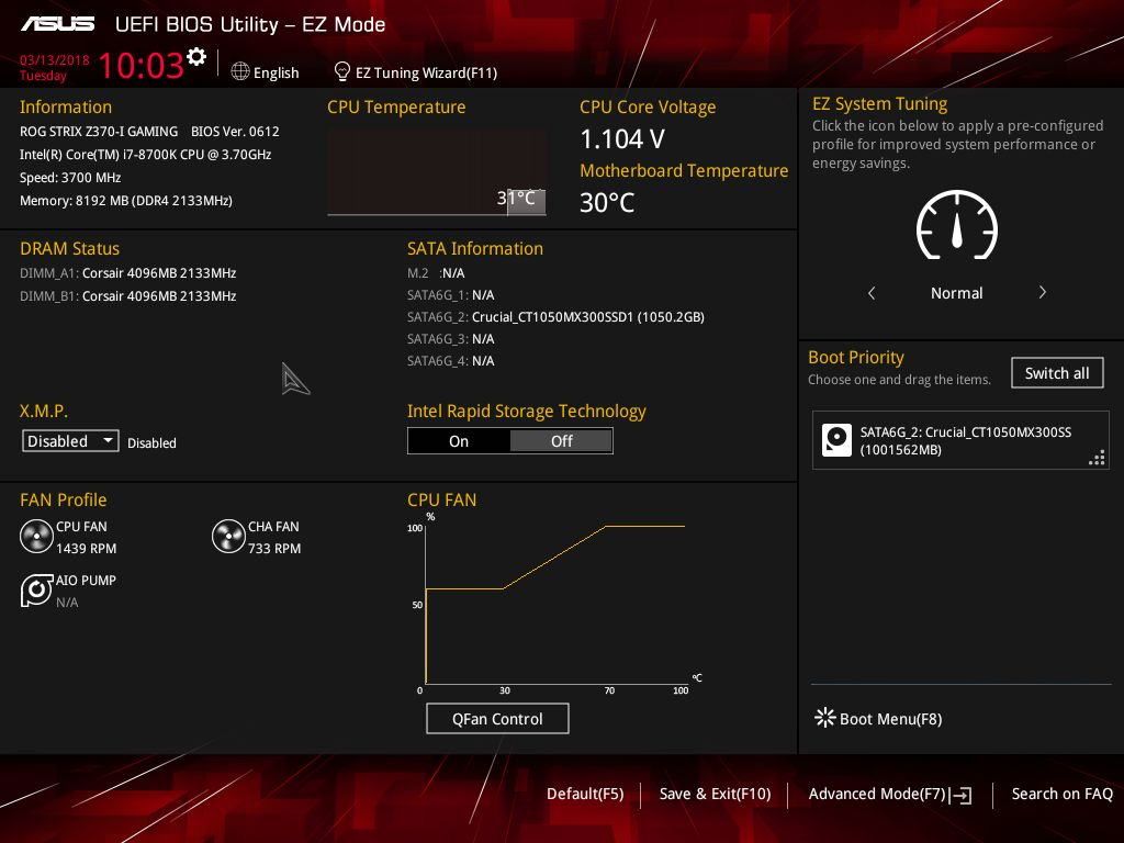 BIOS and Software - The ASUS Z370-I Gaming Review: Mini-Me Mega