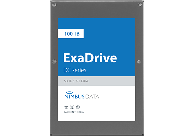 Nimbus Data Unveils The World's Largest ExaDrive 100TB SATA SSD