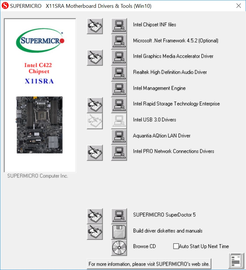 BIOS and Software - The Supermicro X11SRA Motherboard Review: C422