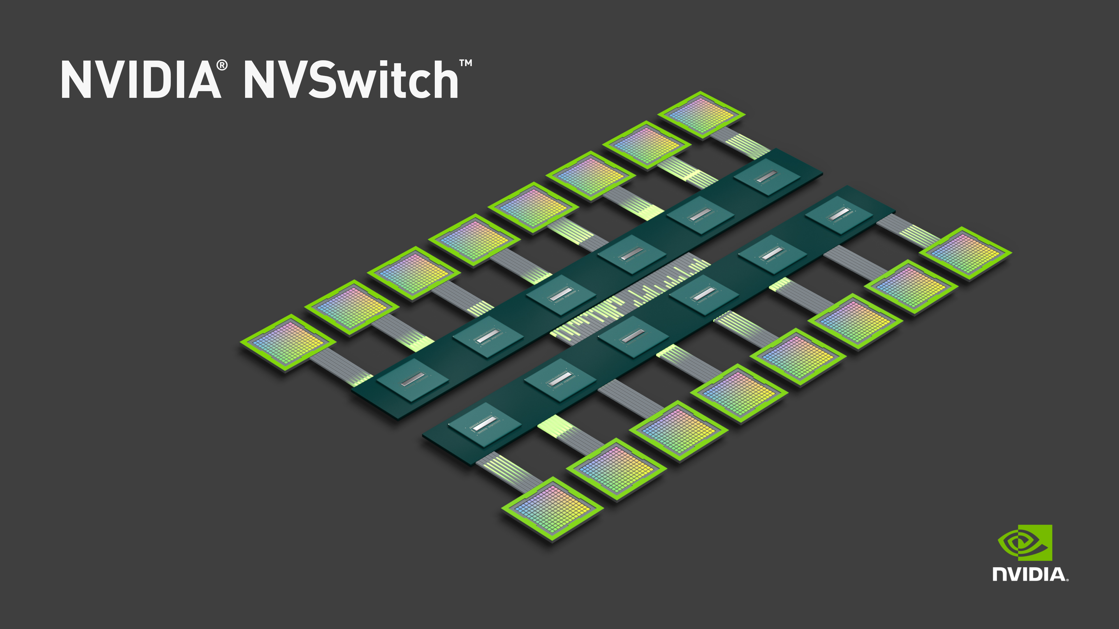 Nvidia Develops Nvlink Switch Nvswitch 18 Ports For Dgx 2 More The Tesla Notably Here Topology Of Means That All 16 Gpus Are Able To Pool Their Memory Into A Unified Space Though With Usual Tradeoffs