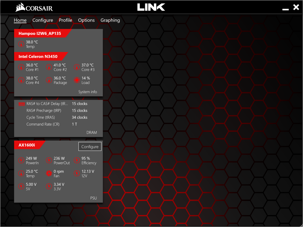 The Corsair Link Software Emperor Of Efficiency Corsairs Which Displays Cost Powering Monitored Load Screenshots While Psu Was Attached To Our Electronic Loads Displayed System Configuration Is That A Laptop And Does