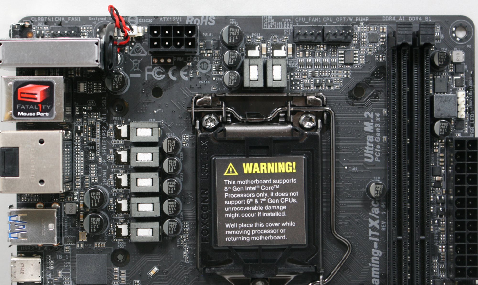 Visual Inspection - The ASRock Z370 Gaming-ITX/ac Motherboard Review