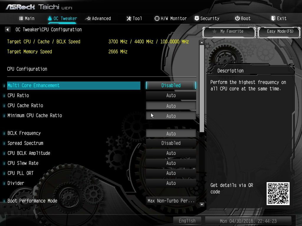 BIOS and Software - The ASRock Z370 Taichi Motherboard