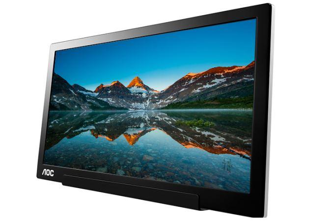 New 196 Aoc Portable Type C Monitor 15 6 Inch 1080p Ips 1 71lbs