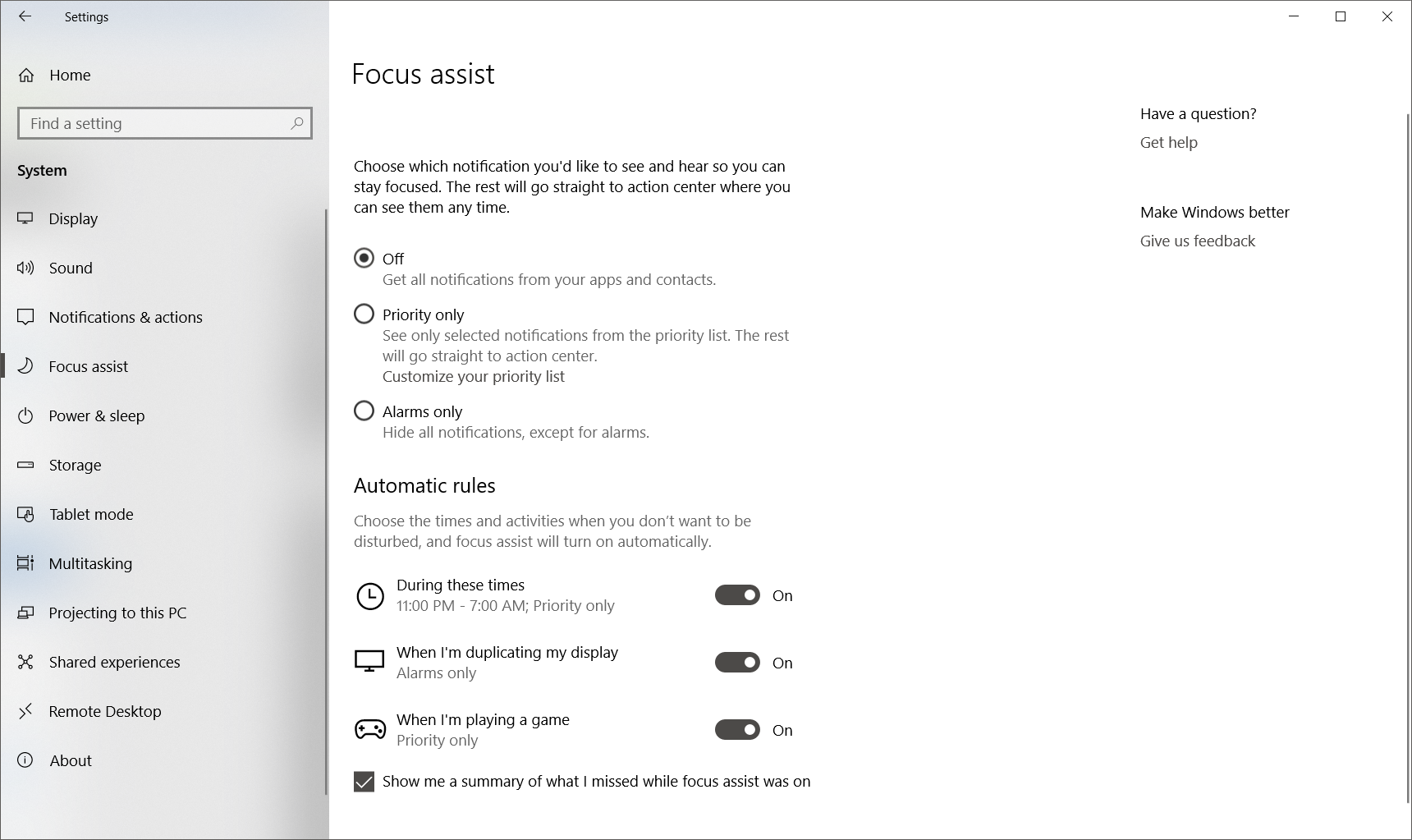 Timeline and Focus Assist: Get More Done - The Windows 10