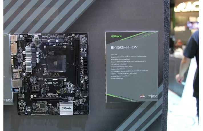 ASRock Shows Off B450 Lineup: Something For Everyone