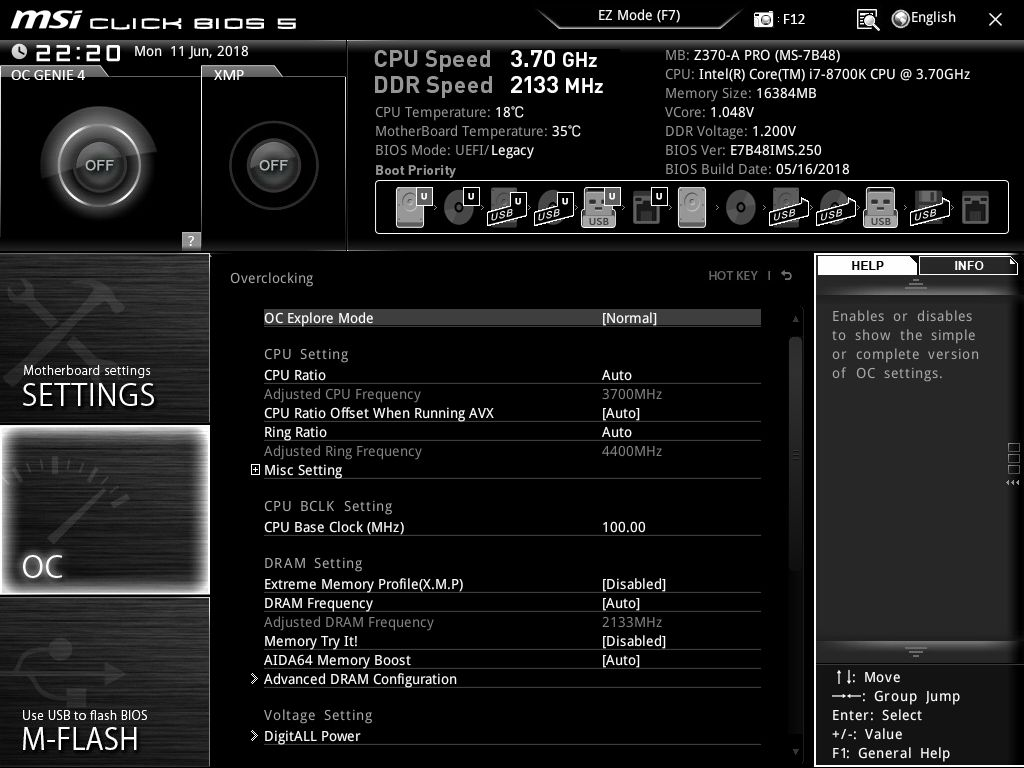 BIOS and Software - The MSI Z370-A Pro Motherboard Review