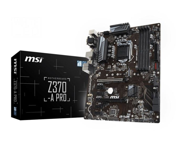 The MSI Z370-A Pro is an inexpensive motherboard from MSI's 'Pro' series of  boards. The Pro series boards are designed for content creators and ...