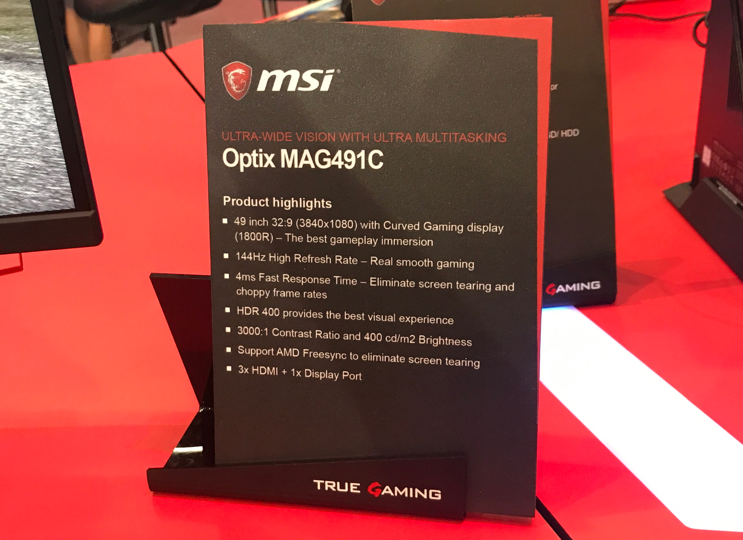 MSI Optix MAG491C Hands-On: A 49-Inch 32:9 LCD with FreeSync