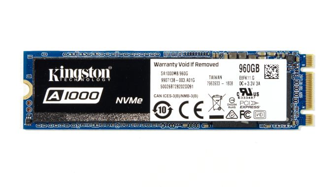 Kingstons A1000 Is The Companys First Foray Into Growing Entry Level NVMe SSD Market And Their Second Consumer Features Toshibas