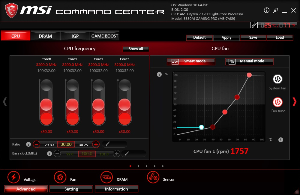 BIOS And Software - The MSI B350M Gaming Pro Review: Micro Size
