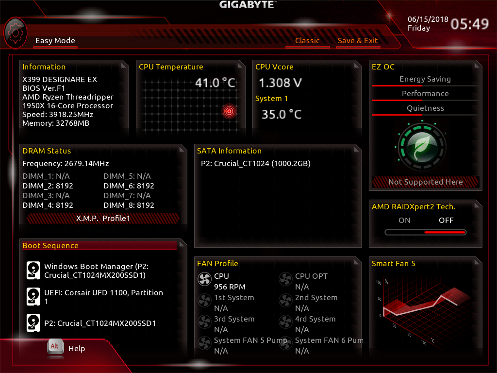 BIOS - The GIGABYTE X399 DESIGNARE EX Motherboard Review