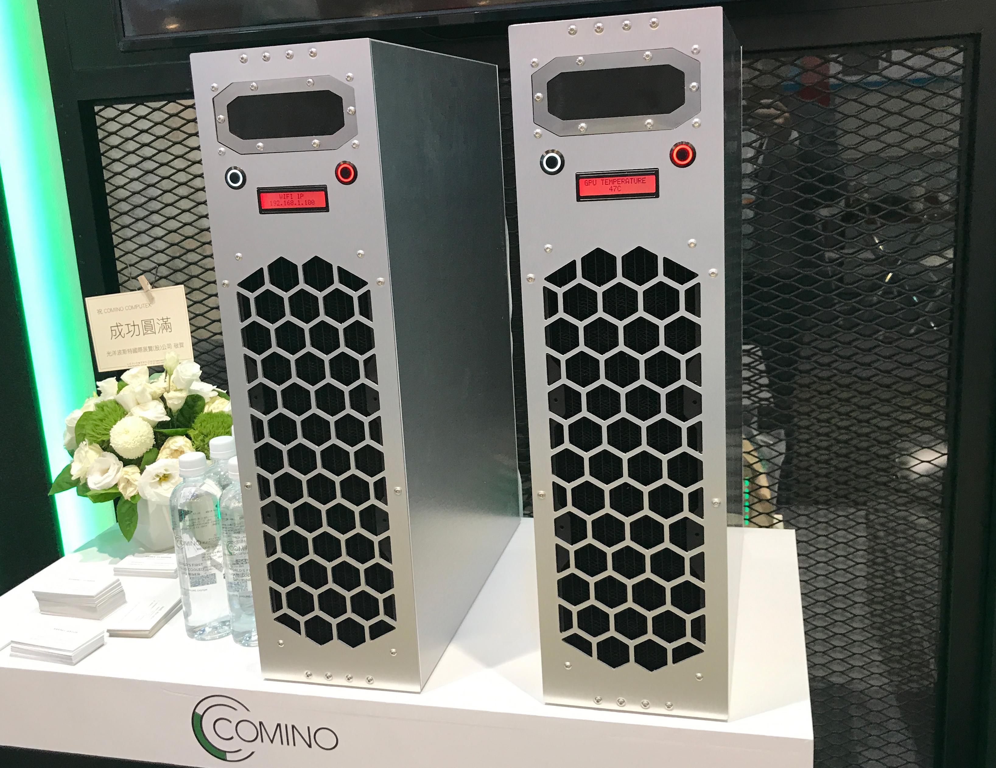 Comino Crypto Mining Rigs: Liquid-Cooled 16 GPUs in a 4U Server