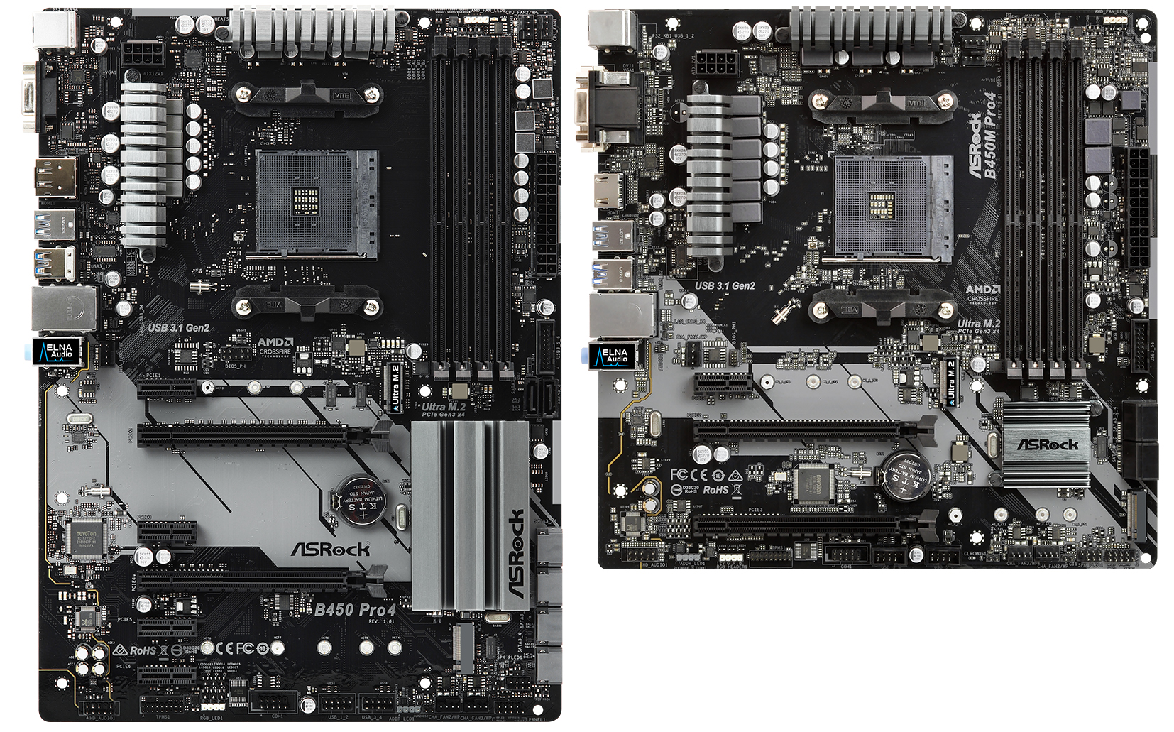 ASRock B450 Pro4 and B450M Pro4 - Analyzing B450 for AMD