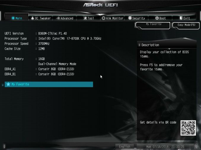 BIOS and Software - The ASRock B360M-ITX/ac Motherboard