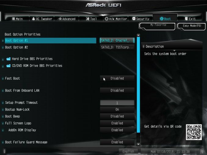 BIOS and Software - The ASRock B360M-ITX/ac Motherboard Review: Tiny